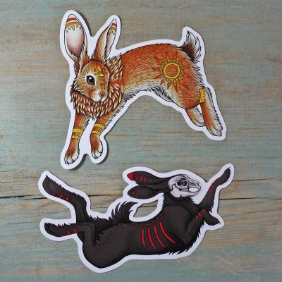 El-ahrairah & The Black Rabbit of Inlé ~ Set of 2 Stickers