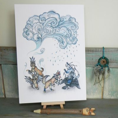 Raindance Illustration – A4 Print