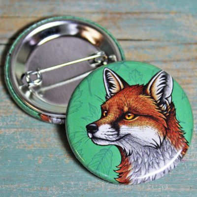 Red Fox Illustration Badge