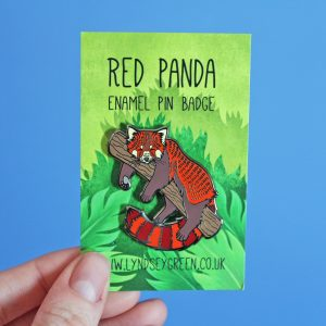 Red Panda Hard Enamel Pin