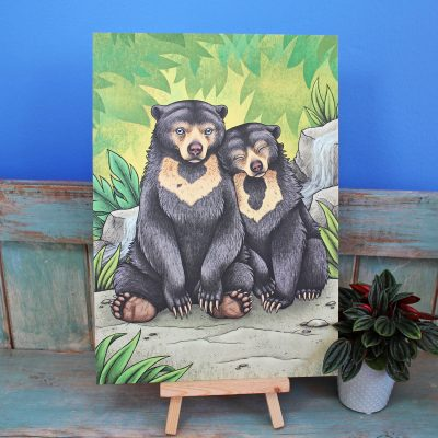 Sun Bears Illustration – A4 Print