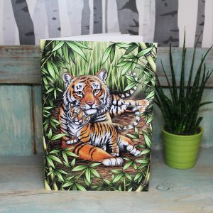 Sumatran Tigers Illustration Notebook
