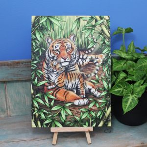 Sumatran Tigers Illustration – A4 Print