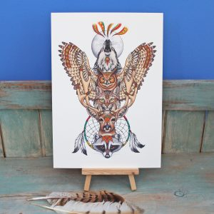 Totem Illustration – A4 Print