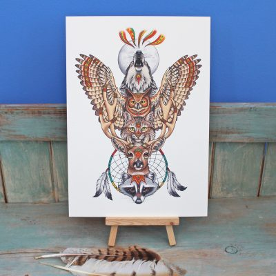 Totem Illustration – A3 Print