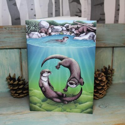 Otters Illustration Notebook