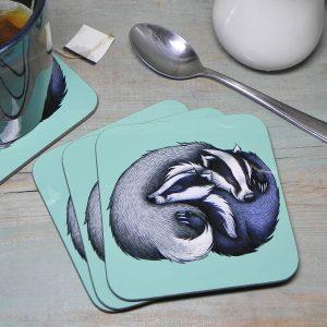 Single (x1) Badgers Coaster
