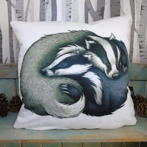 Badger Couple Throw Pillow