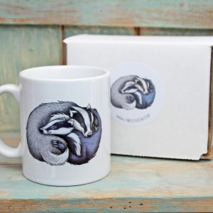 Badger Couple Mug
