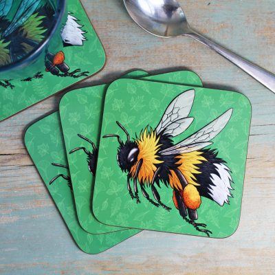 Single (x1) Bumblebee Coaster