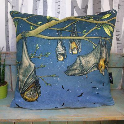 Rodrigues Fruit Bats Throw Pillow