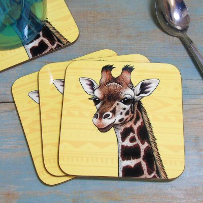 Single (x1) Rothschild's Giraffe Coaster