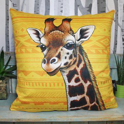 Rothschild's Giraffe Throw Pillow