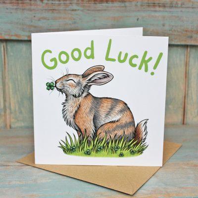 Good Luck Rabbit Card