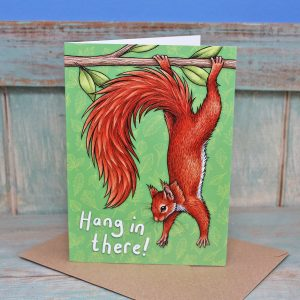 Red Squirrel 'Hang In There!' Card