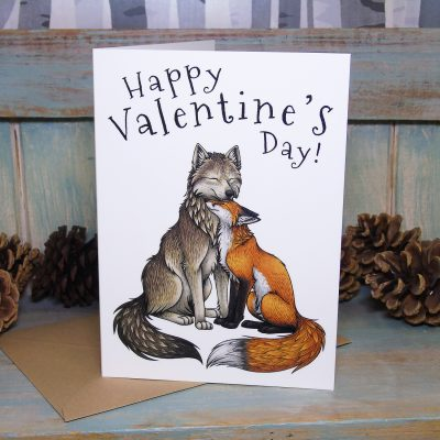 Wolf & Fox Valentine's Day Card