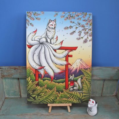 Kitsune Illustration – A3 Print
