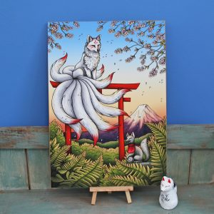 Kitsune Illustration – A3 Giclée Print