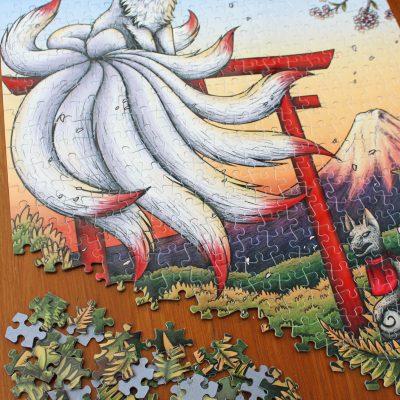 Kitsune Illustration 500 Piece Jigsaw