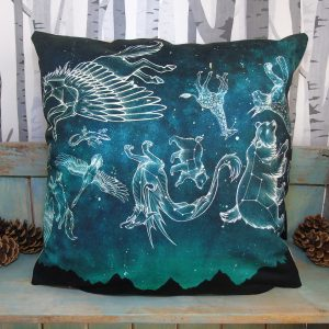 Midnight Menagerie Throw Pillow