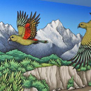Native Birds of New Zealand Illustration – A3 Giclée Print