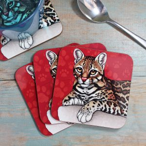 Single (x1) Ocelot Coaster