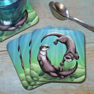 Single (x1) Asian Small-Clawed Otters Coaster