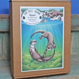 Otters Illustration 500 Piece Jigsaw