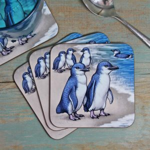 Single (x1) Little Blue Penguin Coaster