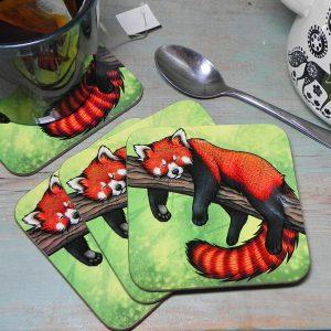 Single (x1) Red Panda Coaster