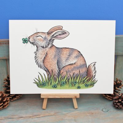 Renly the Rabbit Illustration – A4 Print