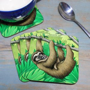 Single (x1) Three-Toed Sloths Coaster