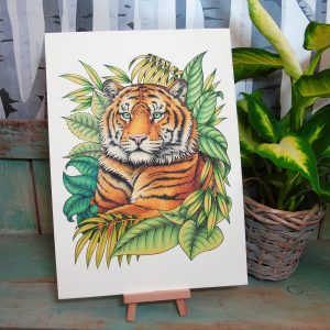 Sumatran Tiger Illustration – A4 Print