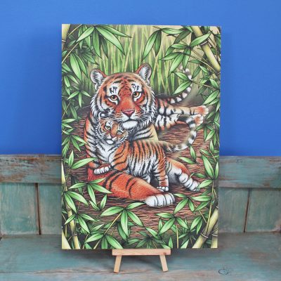 Sumatran Tigers Illustration – A3 Print