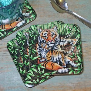 Single (x1) Sumatran Tigers Coaster