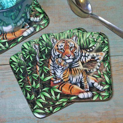 Single (x1) Sumatran Tigers Coaster