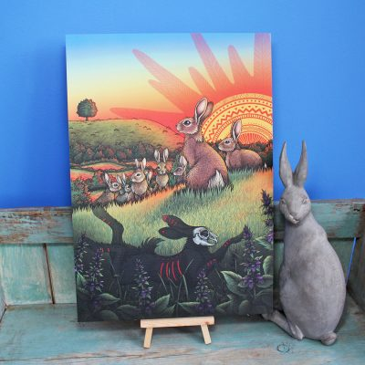Watership Down Illustration – A3 Print