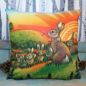 Watership Down Throw Pillow