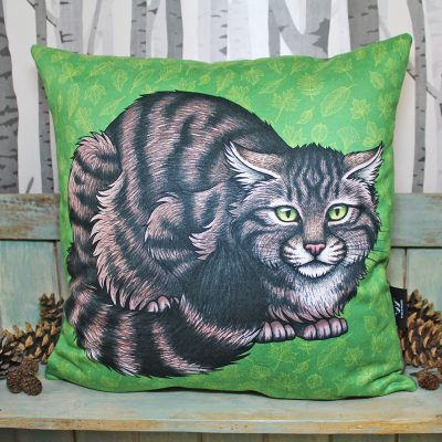 Scottish Wildcat Throw Pillow