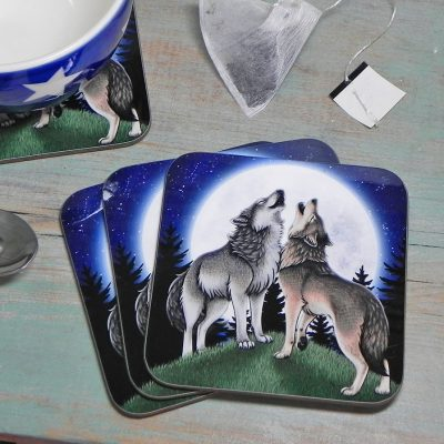 Single (x1) Wolf Song Coaster