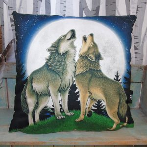 Wolf Song Throw Pillow