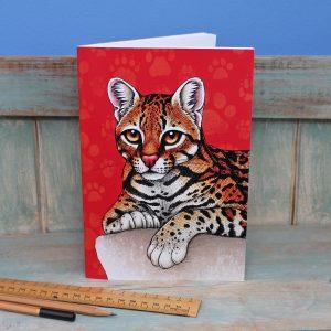 Ocelot Illustration Notebook