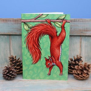 Red Squirrel Illustration Notebook