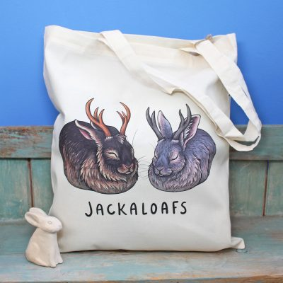 Jackaloafs Tote Bag ~ 100% Organic & Fairtrade Cotton