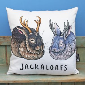 Jackaloafs Vegan Throw Pillow