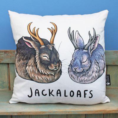 Jackaloafs Vegan Throw Pillow