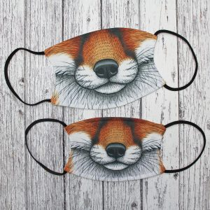 Fox Snout Illustration Face Mask ~ Large / Small Sizes Available