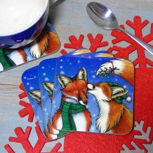 Single (x1) Mistletoe Kisses Coaster