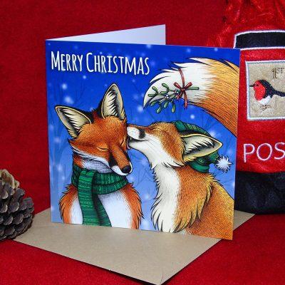 Mistletoe Kisses Christmas Card