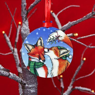 Mistletoe Kisses Wooden Christmas Decoration